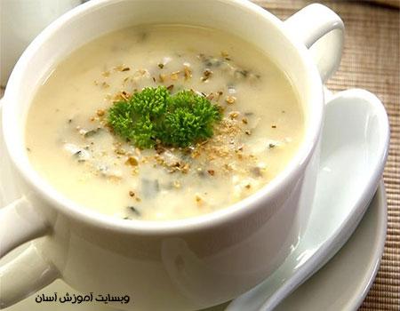 طرز تهیه سوپ تره فرنگی
