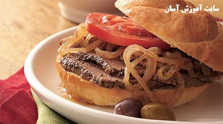 آموزش درست کردن ساندویچ فرانسوی گرم
